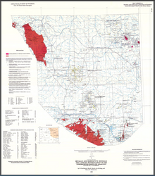 Metallic and Radioactive Minerals and Lapidary Materials Map of the Powder River Basin and Adjacent Uplifts, Wyoming (1990)