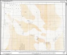 Index Map to U.S. Geological Survey Quadrangle Maps (GQ) in Wyoming (1984)