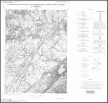 Revised Geologic Map of the Atlantic City Quadrangle, Fremont County, Wyoming (1988)