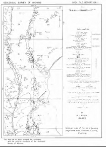 Geologic Map of the Beryl-Bearing Pegmatite Area, Niobrara County, Wyoming (1964)