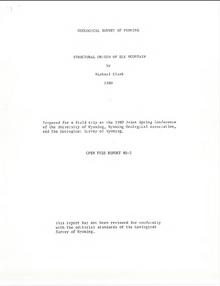 Structural Origin of Elk Mountain (1980)