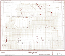 Preliminary Map of Mined Out Areas and Mine Subsidence in Wyoming (1986)