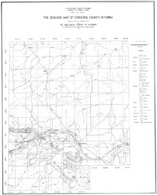 Geologic Map of Converse County, Wyoming (1937)