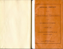 Annual Report of the Territorial Geologist to the Governor of Wyoming (1888)