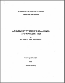 A Review of Wyoming's Coal Mines and Markets: 1994 (1995)