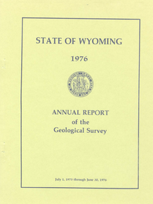 Annual Report of the Geological Survey of Wyoming (1976)