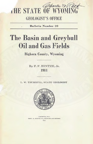 Basin and Greybull Oil and Gas Fields, Big Horn County, Wyoming (1914)