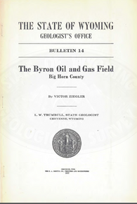 Byron Oil and Gas Field, Big Horn County (1917)
