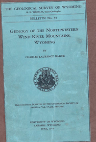 Geology of the Northwest Wind River Mountains, Wyoming (1946)