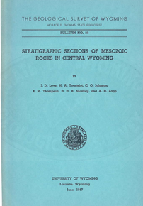 Stratigraphic Sections of Mesozoic Rocks in Central Wyoming (1947)