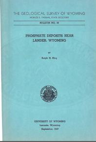 Phosphate Deposits near Lander, Wyoming (1947)