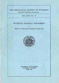 Wyoming Mineral Resources (1952)