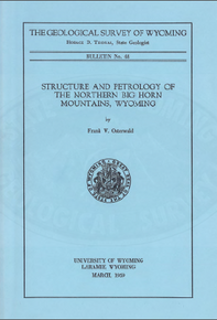 Structure and Petrology of the Northern Bighorn Mountains, Wyoming (1959)