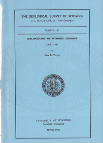 Bibliography of Wyoming Geology 1917–1945 (1969)