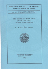 Goose Egg Formation (Permo-Triassic) of Eastern Wyoming (1956)