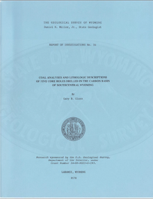 Coal Analyses and Lithologic Descriptions of Five Core Holes Drilled in the Carbon Basin of Southcentral Wyoming (1978)