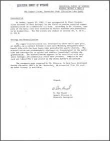 PEG Copper Claims, Rennecker Peak (Christina Lake Quad) (1981)