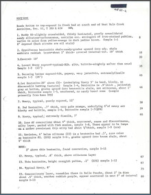 Bentonite: Measured Sections (1967)