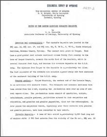 Notes on the Casper Mountain Chromite Deposits (1937)