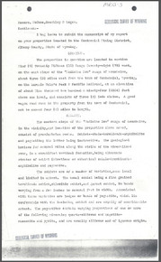 Report on Properties in Centennial Mining District, Albany County, Wyoming (1912)