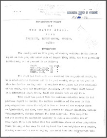 Supplementary Report on the Raven Group near Encampment, Carbon County, Wyoming (1907)