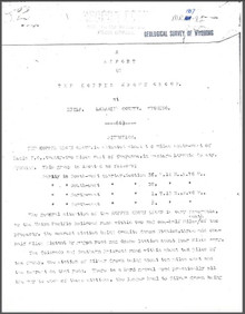 A Report on the Kopper Krown Group at Hecla, Laramie County, Wyoming (1907)