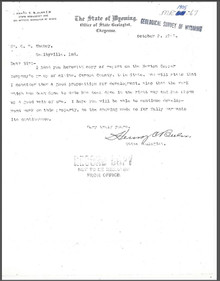 Report on the Newton Group of Claims near Encampment, Carbon County, Wyoming (1905)