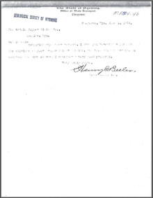 A Brief Report on the Oriole Group, Converse County, Wyoming (1904)