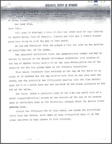 Report on Sparks Butte Oil Lands near Douglas, Wyoming (1903)