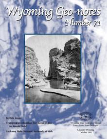 Wyoming Geo-Notes—Number 71 (2001)
