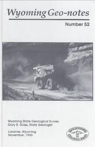 Wyoming Geo-Notes—Number 52 (1996)