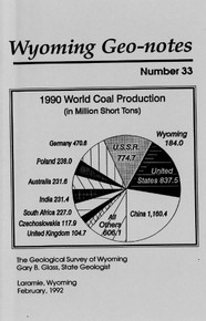 Wyoming Geo-Notes—Number 33 (1992)