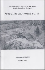 Wyoming Geo-Notes—Number 13 (1987)