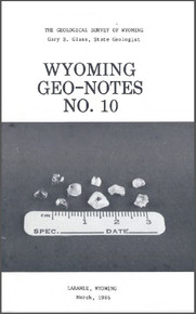 Wyoming Geo-Notes—Number 10 (1985)