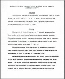 Memorandum on the Red Fork, Powder River Damsite, Johnson County (1955)