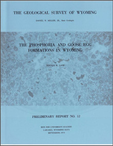 Phosphoria and Goose Egg Formations in Wyoming (1973)