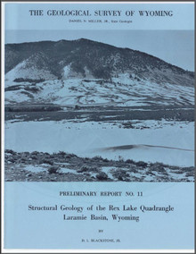 Structural Geology of the Rex Lake Quadrangle, Laramie Basin, Wyoming (1970)