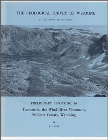 Taconite in the Wind River Mountains, Sublette County, Wyoming (1968)