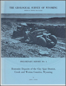 Bentonite Deposits of the Clay Spur District, Crook and Weston Counties, Wyoming (1965)