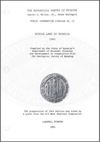 Mining Laws of Wyoming, 1980 (1981)