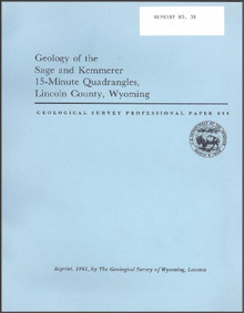 Geology of the Sage and Kemmerer 15-Minute Quadrangles, Lincoln County, Wyoming (1981)