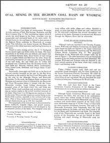 Coal Mining in the Bighorn Coal Basin of Wyoming (1975)