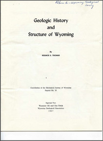 Geologic History and Structure of Wyoming (1957)