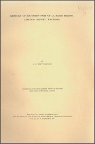 Geology of the Southern Part of La Barge Region, Lincoln County, Wyoming (1941)