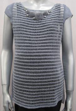 Style # 812 Crochet stripe vest INTERNET SPECIAL