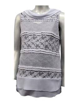 Style #541 - Silver-Grey Lace Vest