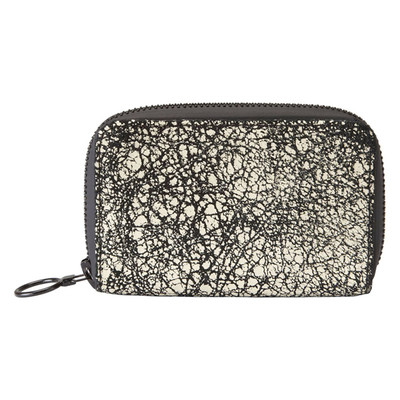LEATHER ZIP WALLET - CRACKLED