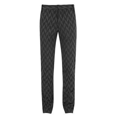 Grey & Black Jacquard Trousers