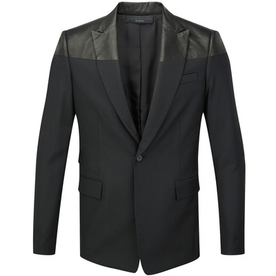 Tailored Blazer - Leather Contrast