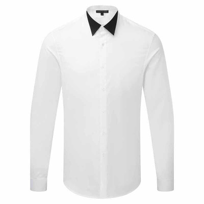 Contrast Wing Collar - Wht/B